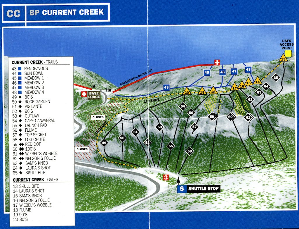 Berthoud Pass Maps - Current Creek