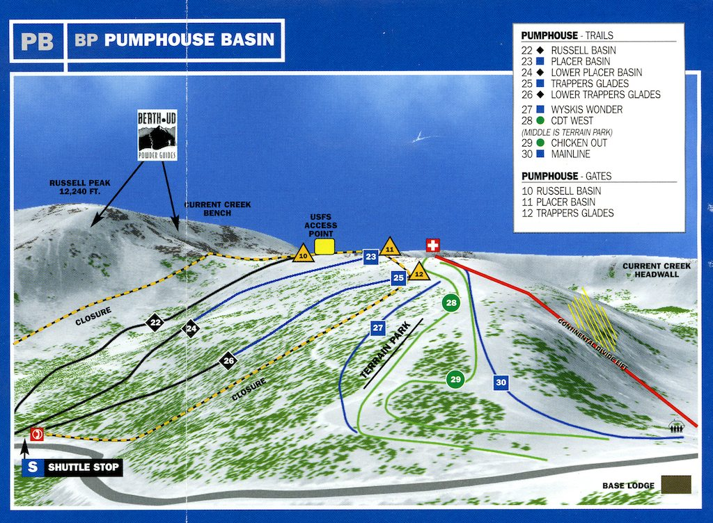 Berthoud Pass Maps - Pumphouse Basin