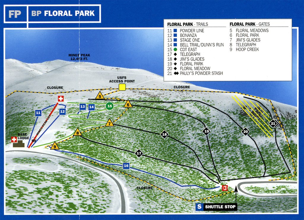 Berthoud Pass Map - Floral Park